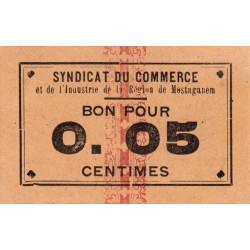 Algérie - Mostaganem 4 - 0,05 franc - 1916 - Etat : NEUF