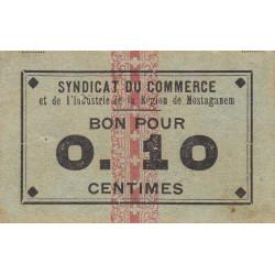 Algérie - Mostaganem 5 - 0,10 franc - 1916 - Etat : TTB