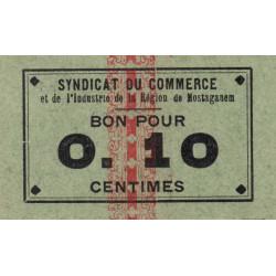 Algérie - Mostaganem 5 - 0,10 franc - 1916 - Etat : SPL