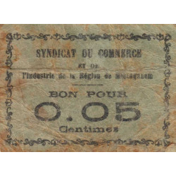 Algérie - Mostaganem 7 - 0,05 franc - 1916 - Etat : TB-