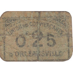 Algérie - Orléansville 12 - 0,25 franc - 1916 - Etat : B