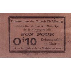 Algérie - Oued-el-Alleug 2 - 0,10 franc - 19/11/1916 - Etat : SUP