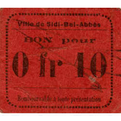 Algérie - Sidi-Bel-Abbès 2 - 0,10 franc - 1916 - Etat : TTB