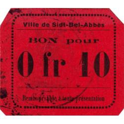 Algérie - Sidi-Bel-Abbès 7b inédit - 0,10 franc - 1916 - Etat : SPL