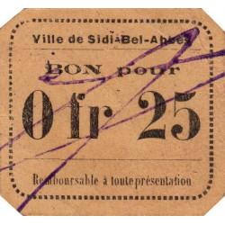 Algérie - Sidi-Bel-Abbès 9a - 0,25 franc - 1916 - Etat : SUP