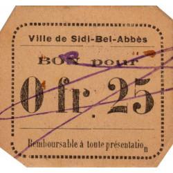 Algérie - Sidi-Bel-Abbès 9b variété - 0,25 franc - 1916 - Etat : SPL