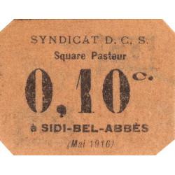 Algérie - Sidi-Bel-Abbès 12 - 0,10 franc - 05/1916 - Etat : pr.NEUF