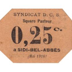 Algérie - Sidi-Bel-Abbès 13 - 0,25 franc - 05/1916 - Etat : pr.NEUF