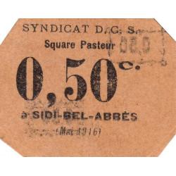 Algérie - Sidi-Bel-Abbès 14 - 0,50 franc - 05/1916 - Etat : pr.NEUF