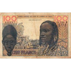 Bénin - Pick 201Bf - 100 francs - Série O.244 - 1965 - Etat : B+