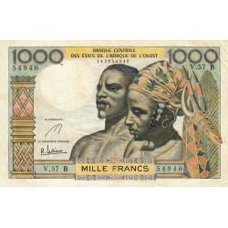 Bénin - Pick 203Bf - 1'000 francs - Série V.57 - 1965 - Etat : TB+