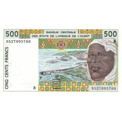 Bénin - Pick 210Bf - 500 francs - 1995 - Etat : SUP