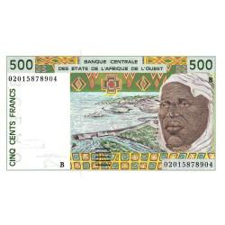 Bénin - Pick 210Bn - 500 francs - 2002 - Etat : NEUF