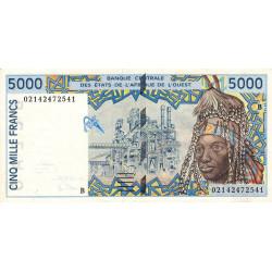 Bénin - Pick 213Bl - 5'000 francs - 2002 - Etat : SUP