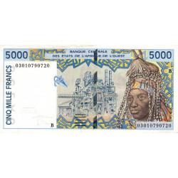 Bénin - Pick 213Bm - 5'000 francs - 2003 - Etat : TTB