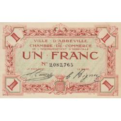Abbeville - Pirot 1-9 - 1 franc - Sans date - Etat : SPL