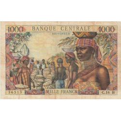 Centrafrique - Afrique Equatoriale - Pick 5f - 1'000 francs - Etat : TB+