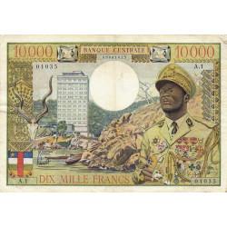 Centrafrique - Afrique Equatoriale - Pick 7 - 10'000 francs - Série A.1 - 1968 - Etat : TTB