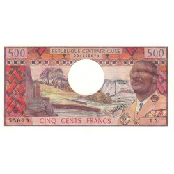 Centrafrique - Pick 1 - 500 francs - Série T.2 - 1974 - Etat : NEUF