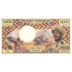 Centrafrique - Pick 3b - 5'000 francs - Série O.1 - 1974 - Etat : SPL