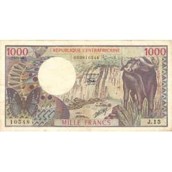 Centrafrique - Pick 10_2 - 1'000 francs - Série J.13 - 01/07/1980 - Etat : TB+