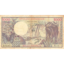 Centrafrique - Pick 10_3 - 1'000 francs - 01/06/1981 - Etat : TB