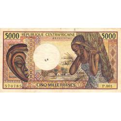 Centrafrique - Pick 12b - 5'000 francs - 1984 - Etat : TB- à TB