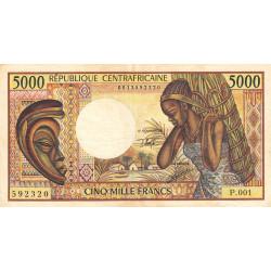Centrafrique - Pick 12b - 5'000 francs - Série P.001 - 1991 - Etat : TB