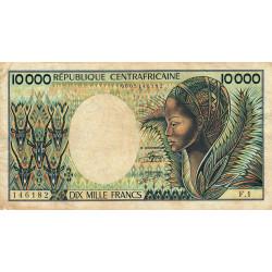 Centrafrique - Pick 13_1 - 10'000 francs - Série F.1 - 1983 - Etat : TB- à TB