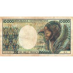 Centrafrique - Pick 13_1 - 10'000 francs - Série H.1 - 1983 - Etat : TB- à TB