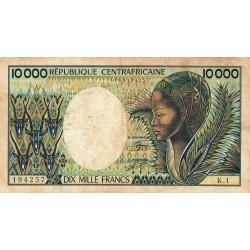 Centrafrique - Pick 13_1 - 10'000 francs - Série K.1 - 1983 - Etat : TB- à TB