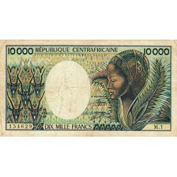 Centrafrique - Pick 13_1 - 10'000 francs - Série M.1 - 1983 - Etat : TB- à TB
