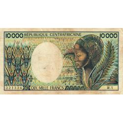 Centrafrique - Pick 13_1 - 10'000 francs - Série R.1 - 1983 - Etat : TB- à TB
