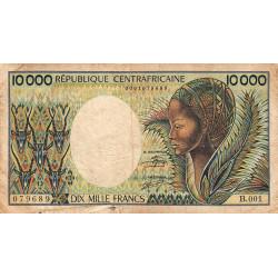 Centrafrique - Pick 13_2 - 10'000 francs - Série B.001 - 1983 - Etat : B