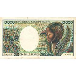 Centrafrique - Pick 13_2 - 10'000 francs - Série C.001 - 1983 - Etat : TB- à TB