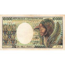 Centrafrique - Pick 13_2 - 10'000 francs - Série F.001 - 1983 - Etat : TB