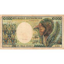 Centrafrique - Pick 13_2 - 10'000 francs - Série J.001 - 1983 - Etat : TB-