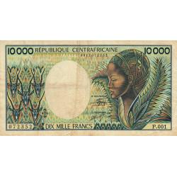 Centrafrique - Pick 13_2 - 10'000 francs - Série P.001 - 1983 - Etat : B+ à TB-