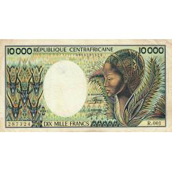 Centrafrique - Pick 13_2 - 10'000 francs - Série R.001 - 1983 - Etat : TB