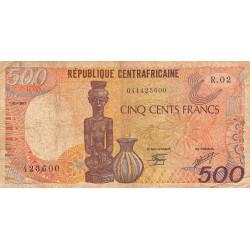 Centrafrique - Pick 14c - 500 francs - Série R.02 - 01/01/1987 - Etat : TB-