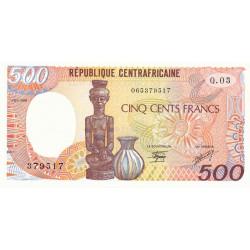 Centrafrique - Pick 14d - 500 francs - Série Q.03 - 01/01/1989 - Etat : SPL