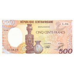 Centrafrique - Pick 14e - 500 francs - Série L.04 - 01/01/1991 - Etat : SUP