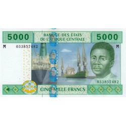 Centrafrique - Afr. Centrale - Pick 309Ma - 5'000 francs - 2002 - Etat : NEUF