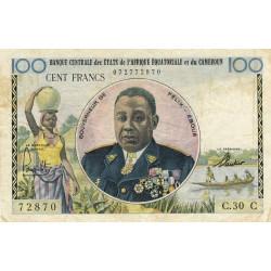 Congo (Brazzaville) - Afrique Equatoriale - Pick 1c - 100 francs - Etat : TB+