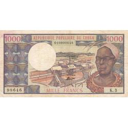 Congo (Brazzaville) - Pick 3c - 1'000 francs - Etat : TB