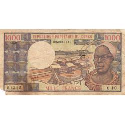 Congo (Brazzaville) - Pick 3e - 1'000 francs - Etat : B