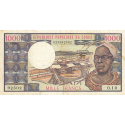 Congo (Brazzaville) - Pick 3e - 1'000 francs - 01/01/1983 - Etat : TB+