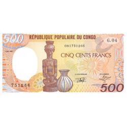 Congo (Brazzaville) - Pick 8d - 500 francs - 01/01/1991 - Etat : NEUF