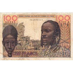 Côte d'Ivoire - Pick 101Aa - 100 francs - Série Z.122 - 20/03/1961 - Etat : TB-