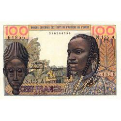 Côte d'Ivoire - Pick 101Ab - 100 francs - Série N.155 - 20/03/1961 - Etat : SPL+